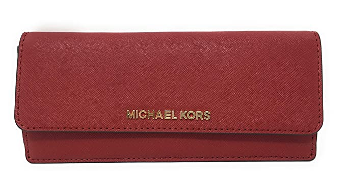 1e50d6aa199d39 Michael Kors Jet Set Travel Flat Saffiano Wallet - Scarlet: Amazon.co.uk:  Clothing