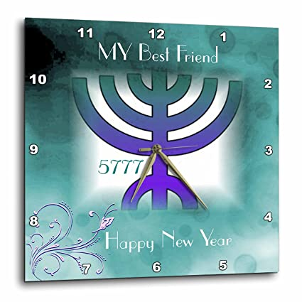 3drose jewish themes image of jewish new year for best friend menorah and butterfly