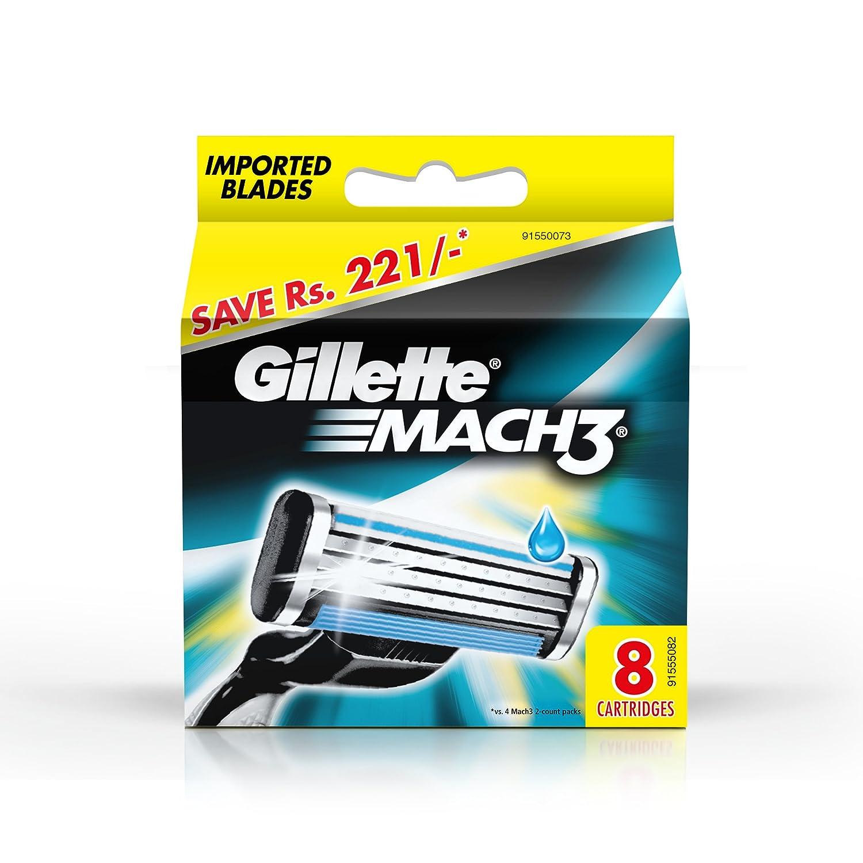 Gillette Mach3A estrenar Cuchillas/cartuchos 100% originales–8blades Procter and Gamble Spain