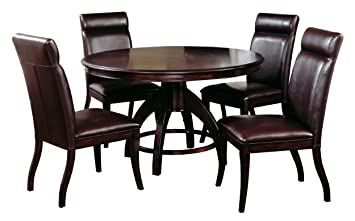 Hillsdale Nottingham Round 5 Piece Dining Set Dark Espresso Includes 1