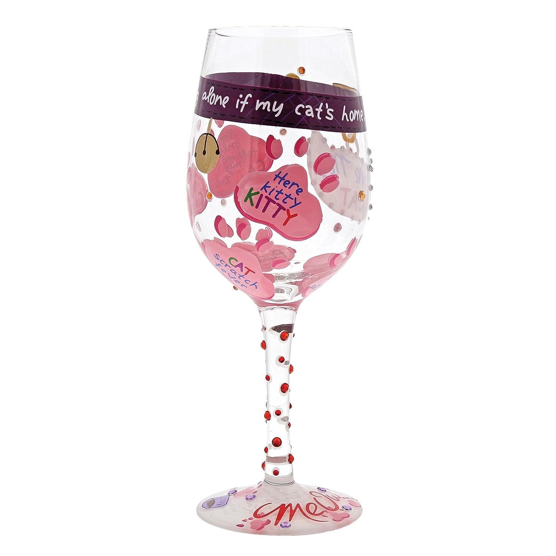 Enesco Lolita 6000023 Amo a mi gato Copa de vino