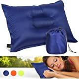 Camping & Travel Pillow - Sleep in Comfort! Compressible, Comfortable - Ideal For Backpacking, Mountaineering, Camp, Planes, Cars!
