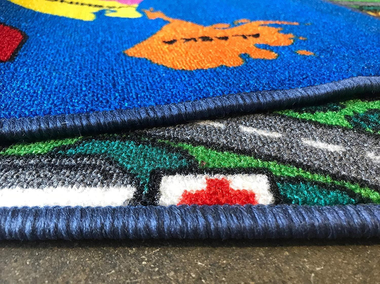 Kids Area Rug Solar System Learning Carpet Play Time Black Design 6 5 Feet 3 Inch X 7 Feet 2 Inch