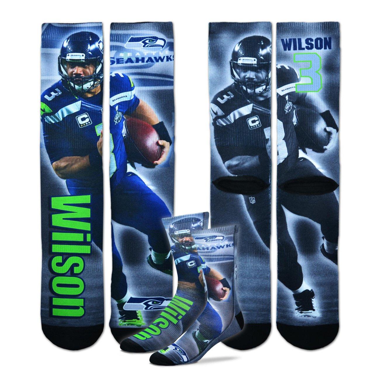 送料無料 Seattle SeahawksユースサイズNFLドライブクルー子供用ソックス( One 4 – 8歳用) – Russell Wilson Russell One 4 Size B0140GHPG6, 安達郡:1cba6860 --- movellplanejado.com.br