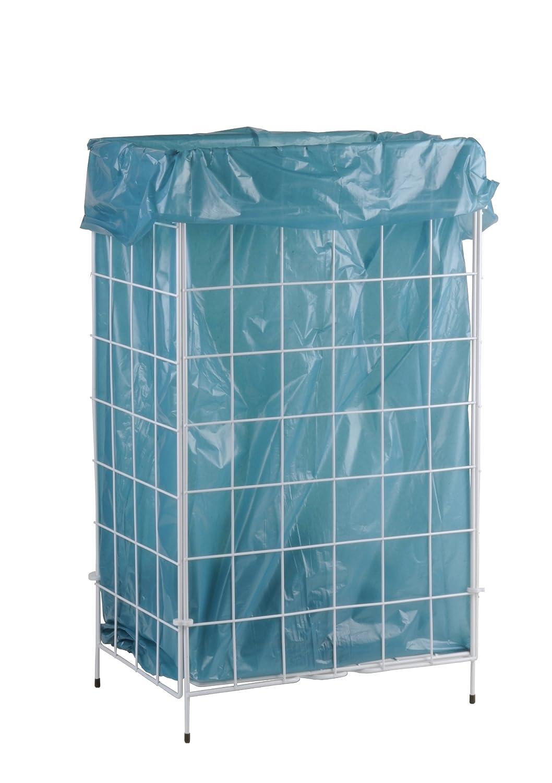 Wei/ß Metall Beschichtet SemyTop ST-88450 Abfallkorb Zusammenlegbar