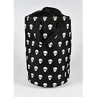 Alla Turca Skull Çamaşır Sepeti, Siyah, 32 cm x 32 cm x 50 cm