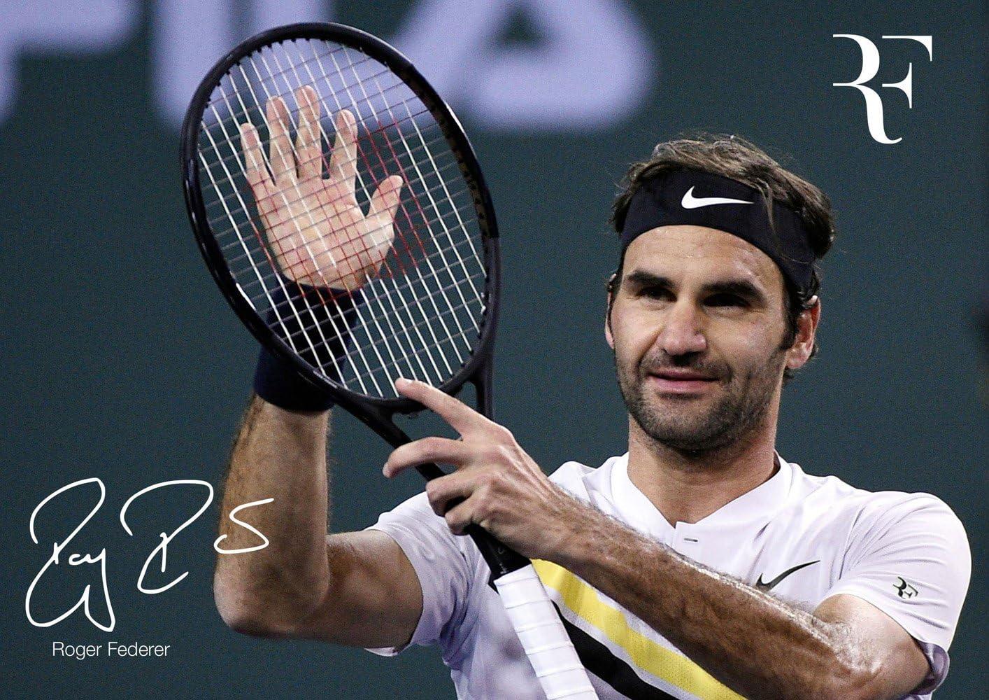 Amazon.de: Salopian Sales Motivierendes Poster mit Roger Federer # 33 –  Motivation –