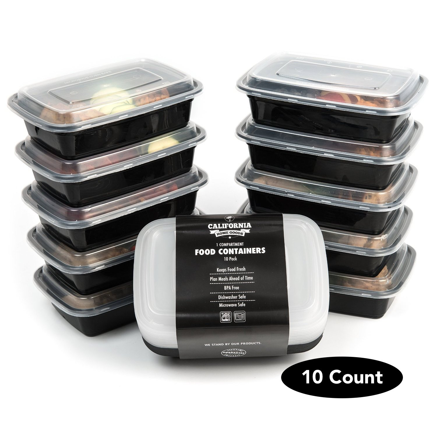 California Home Goods 1 Compartment Reusable Food Storage Containers With Lid.. 14
