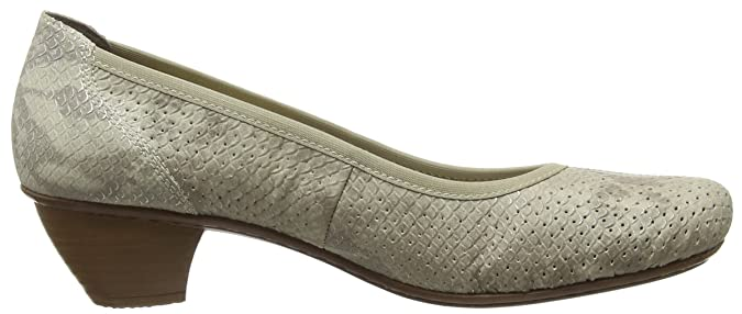 Rieker Damen 47687 Women Closed Toe Pumps, Beige (hay 64 0tv68