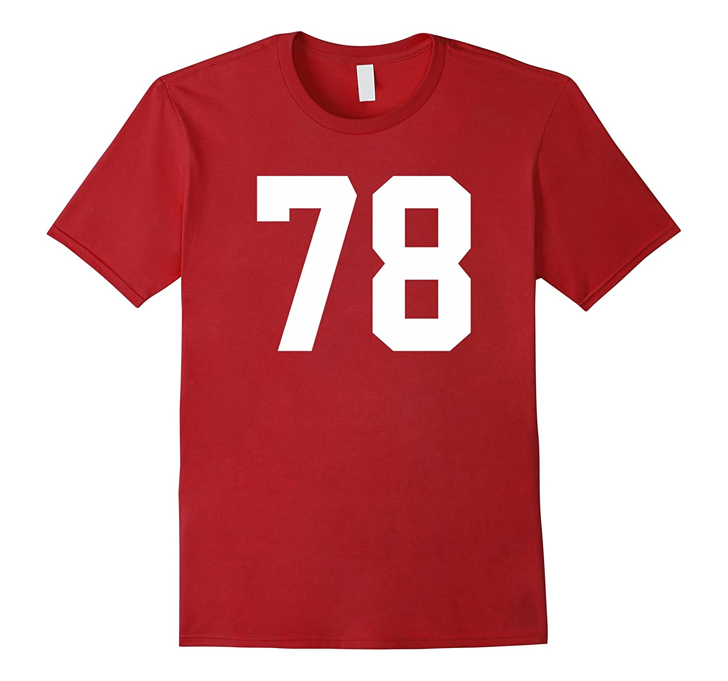 78 Sports Jersey Number T-Shirt for Team Fan Player #78-Art