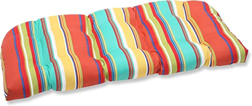 Pillow Perfect Outdoor Indoor Westport Spring Tufted Loveseat Cushion, 44 x 19 , Multicolored