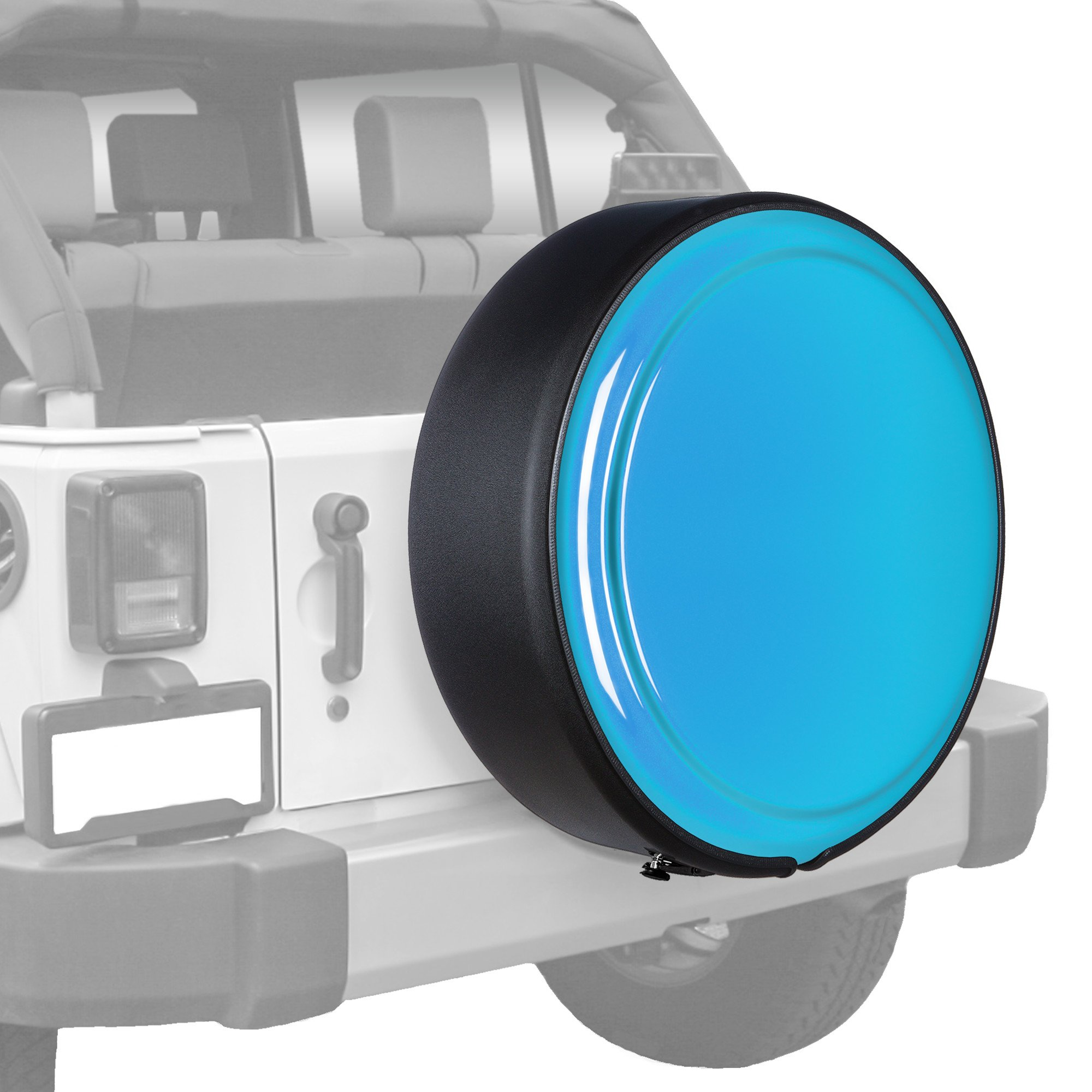 Jeep Wrangler JK - 32'' MasterSeries Hard Tire Cover - (Painted Plastic Face & Black Powder Coated Steel Ring) - Chief
