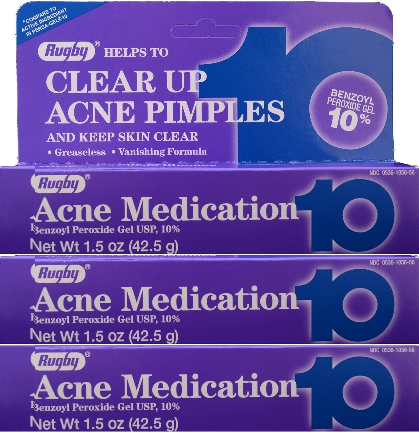 Amazon Com Rugby Acne Medication 10 42 5 Gm Pack Of 3 Health Personal Care