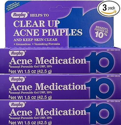 Amazon Com Rugby Acne Medication 10 42 5 Gm Paquete De 3 Health Personal Care