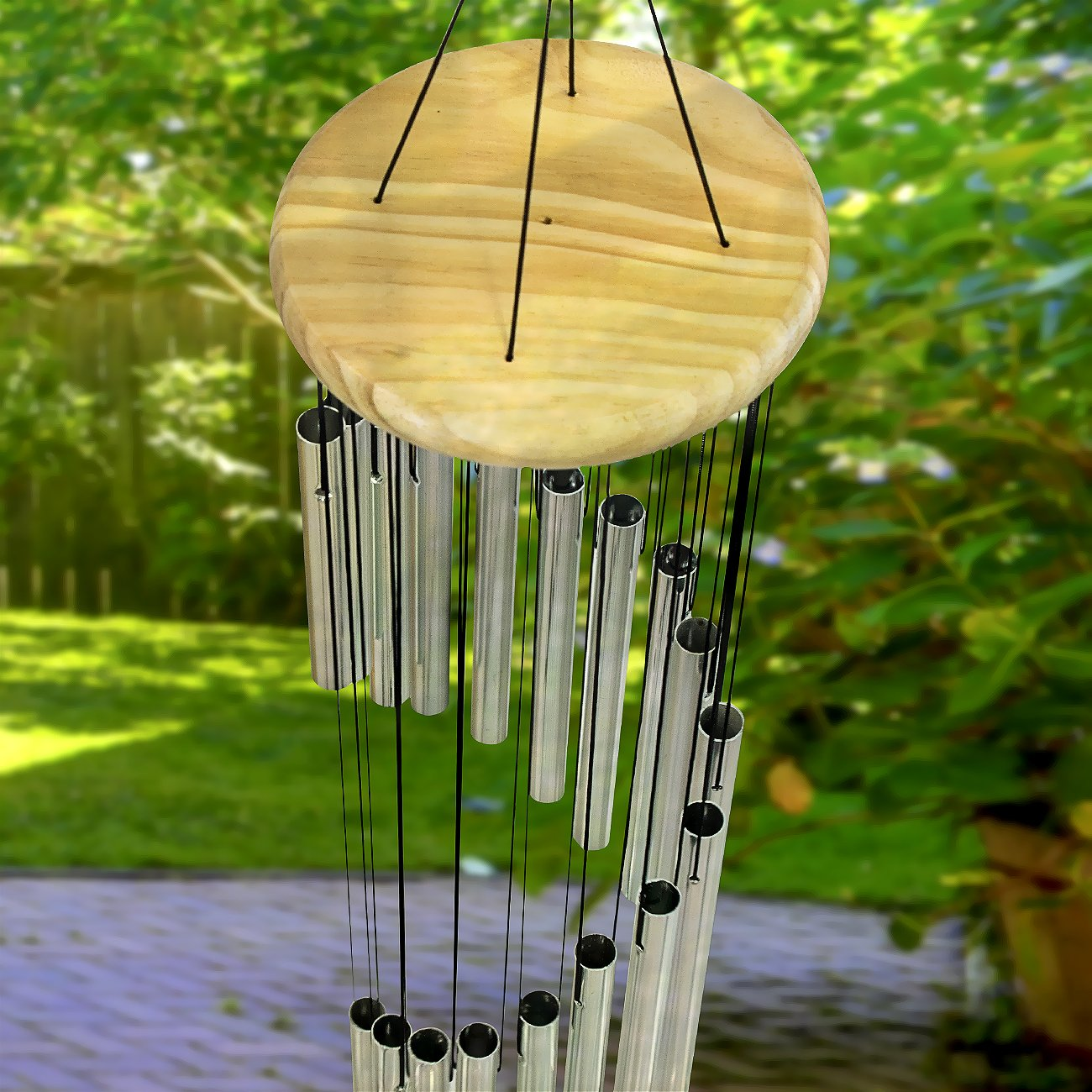 Home Deck Tubular Decorative Outdoor Garden Accent with Soothing Musical Bell Sounds Sorbus Wind Chimes Great for Memorial Metal or Garden Patio