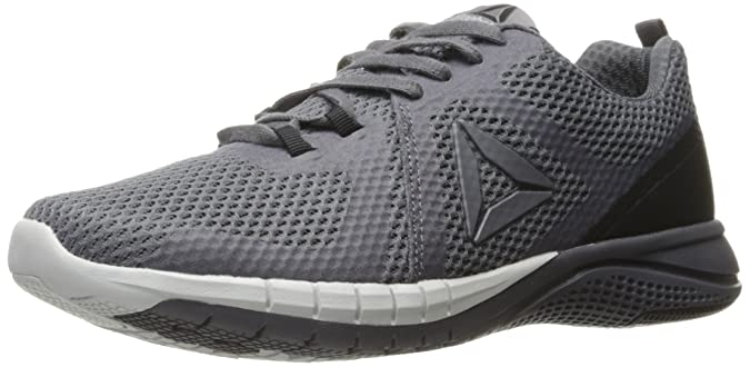 Reebok Men's Print Run 2.0 Shoe, Ash Black/Pewter/Skull Grey, 8.5 M US