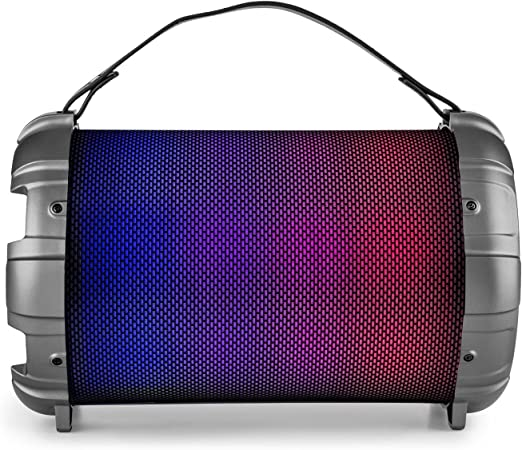 Auna Dr. Bang LED - Altavoz Boombox portátil 2.1, Bluetooth, 40 W, USB, SD, AUX, Reproductor MP3, Efectos LED, Entrada micrófonos 2x6,3, HiFi Radio ...