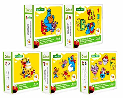 Amazon com: 5 Cricut Sesame Street Cartridges Bundle: Elmo's