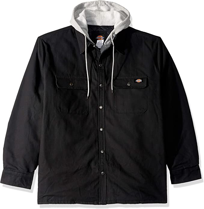 Dickies Men/'s Relaxed Fit Icon Hooded Duck Quilted Shirt Jacket Style # TJ203 BD