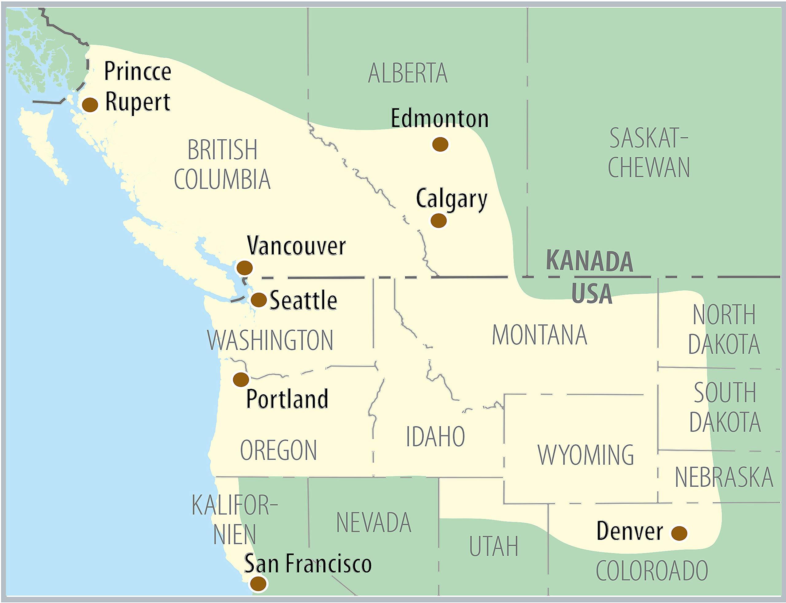 Kanada Sudwest Usa Nordwest Reisefuhrer Amazon De Isabel
