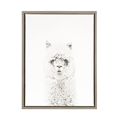 Kate and Laurel Sylvie Framed Canvas, 18x24, Gray