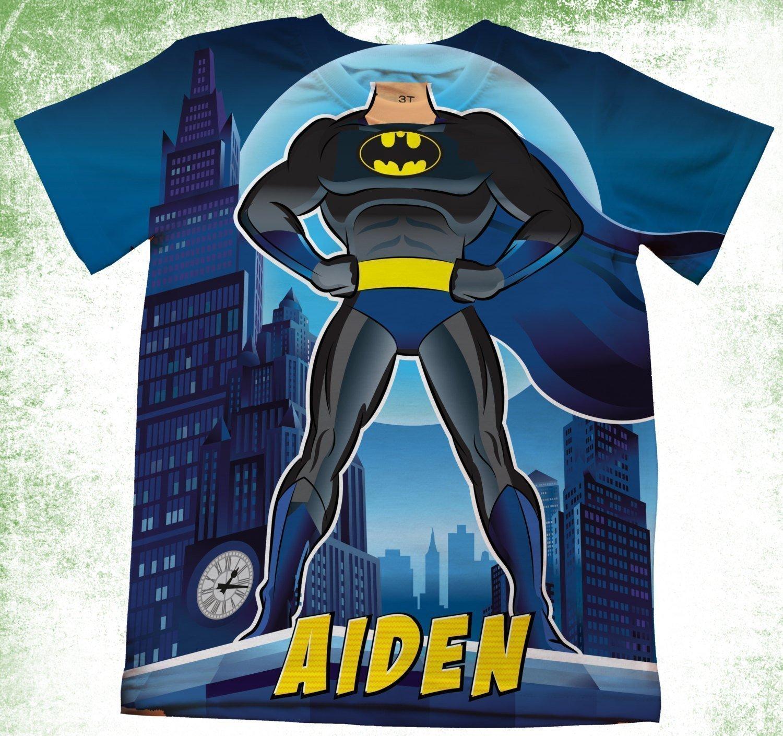 Amazon Personalized Batman T Shirt Super Hero Theme Birthday Party Kids Shirts