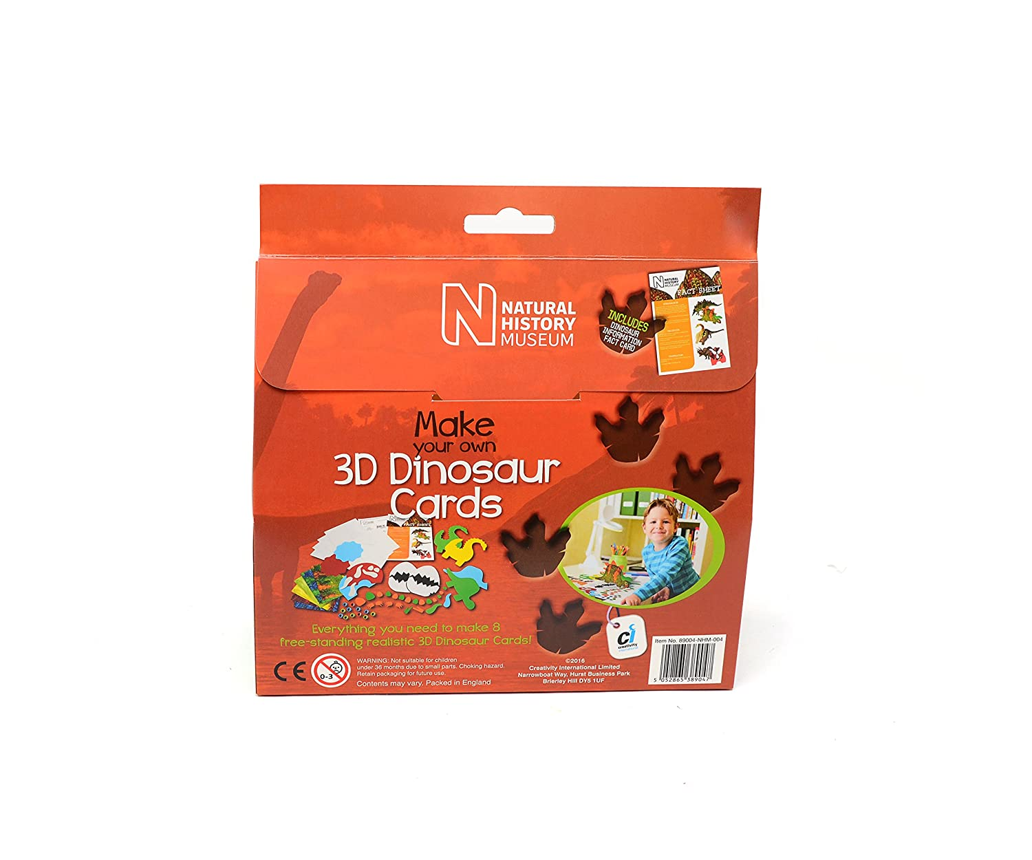 Natural History Museum Dinosaur Card Making Kit by Natural History Museum: Amazon.es: Juguetes y juegos