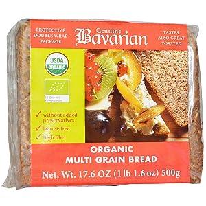 Bavarian Bread, Bread Multi Grain Organic, 17.6 Ounce