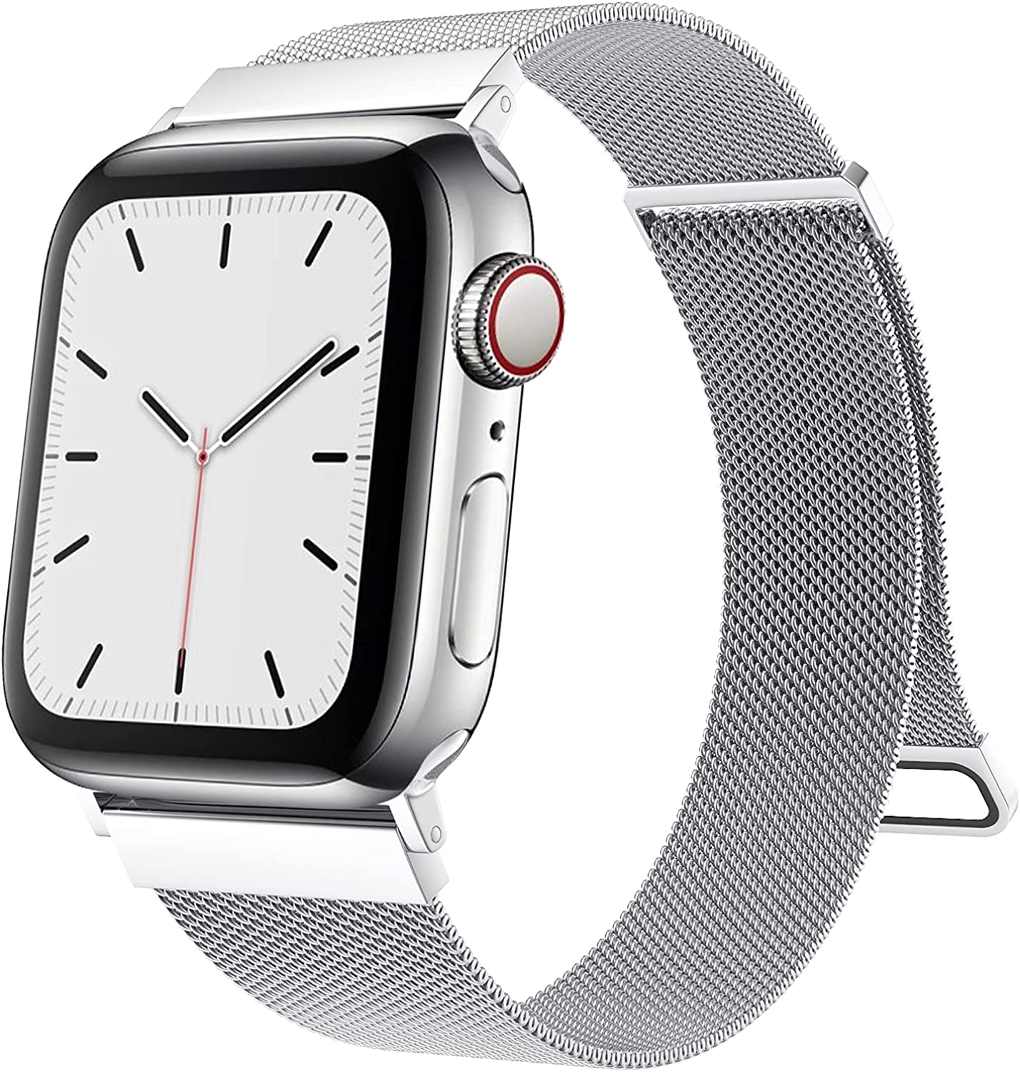 Cigamoya Compatible with Apple Watch Band 38mm 40mm 42mm 44mm Women Men, Super Adjustable Mesh Stainless Steel Wristbands with Strong Magnetic Clasp for iWatch Bands Series 6/SE/5/4/3/2/1