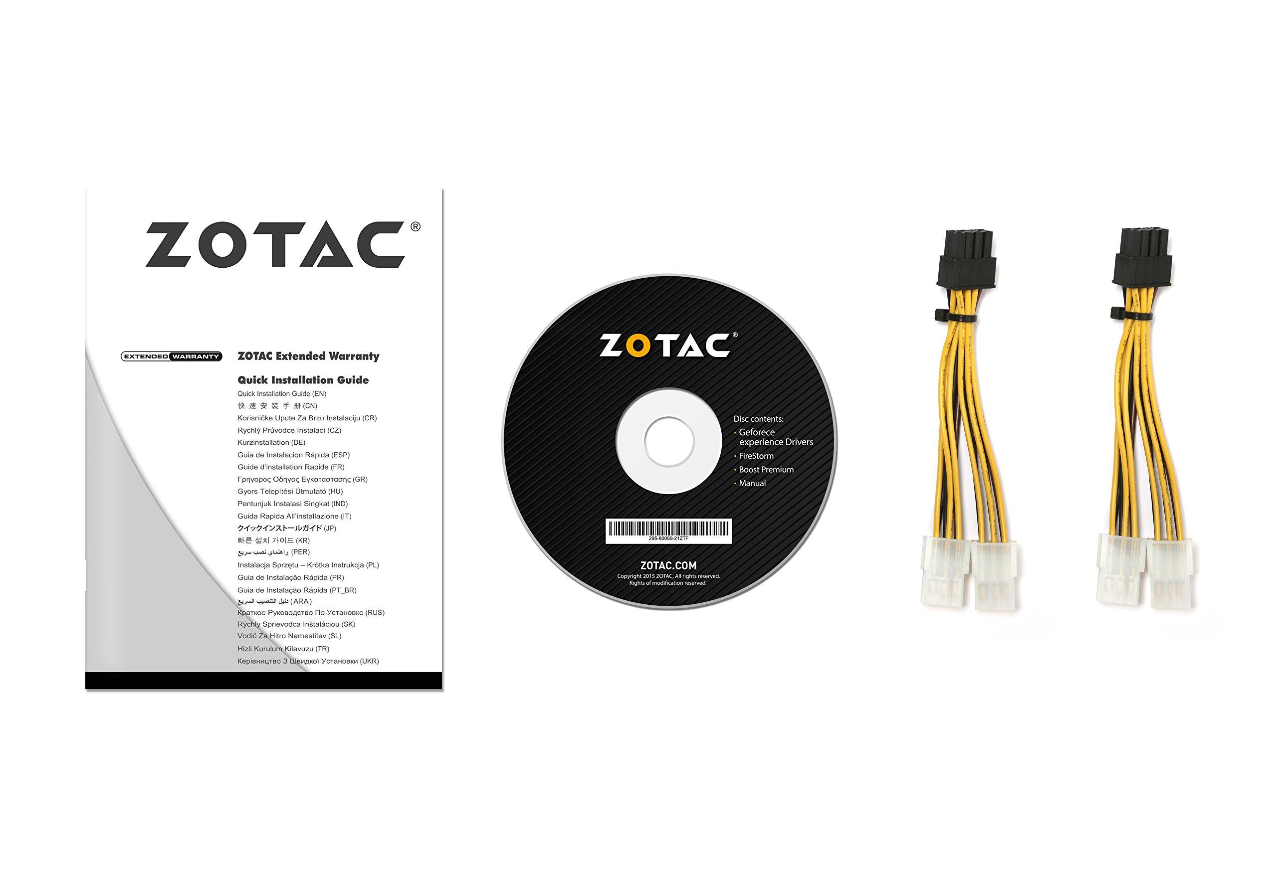 ZOTAC NVIDIA GeForce GTX 1080 Ti Mini 11GB GDDR5X DVI/HDMI/3DisplayPort PCI-Express Video Card by ZOTAC (Image #8)