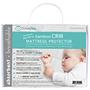Crib Mattress Protector for Hot or Sweaty Sleepers - Waterproof Quilted Bamboo Pad / Cover / Topper for Crib and Toddler Beds