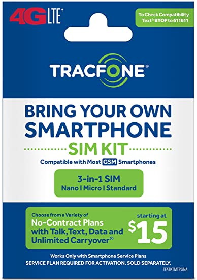 Tracfone Compatible Smartphones >> Amazon Com Tracfone Bring Your Own Phone Gsm 3 In 1 Sim Card Kit