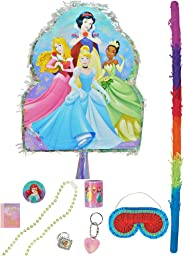 Party City Pull String Disney Princess Pinata Supplies, Include a Pinata, a Pinata Stick, a Blindfold, and Favor Toys