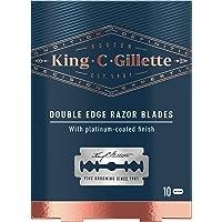 King C. Gillette Men's Double Edge Safety Razor Blades Pack of 10 Gillette's Best Stainless Steel Platinum Coated Blades