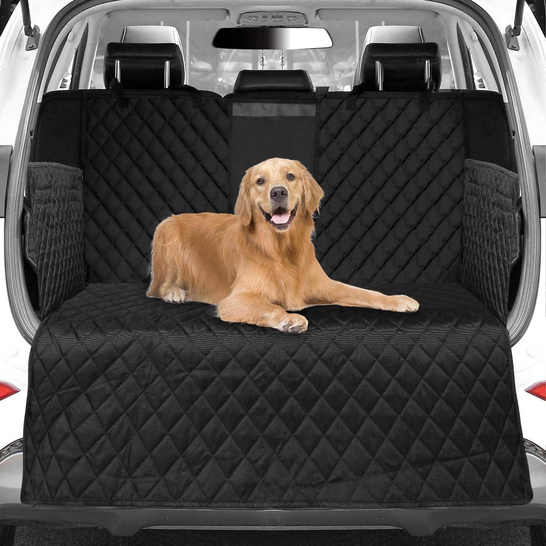 Womgf Universal Auto Abdeckung Für Hunde Und Kofferraum Für Alle Autositzbezüge Mit Seitenschutz Auto