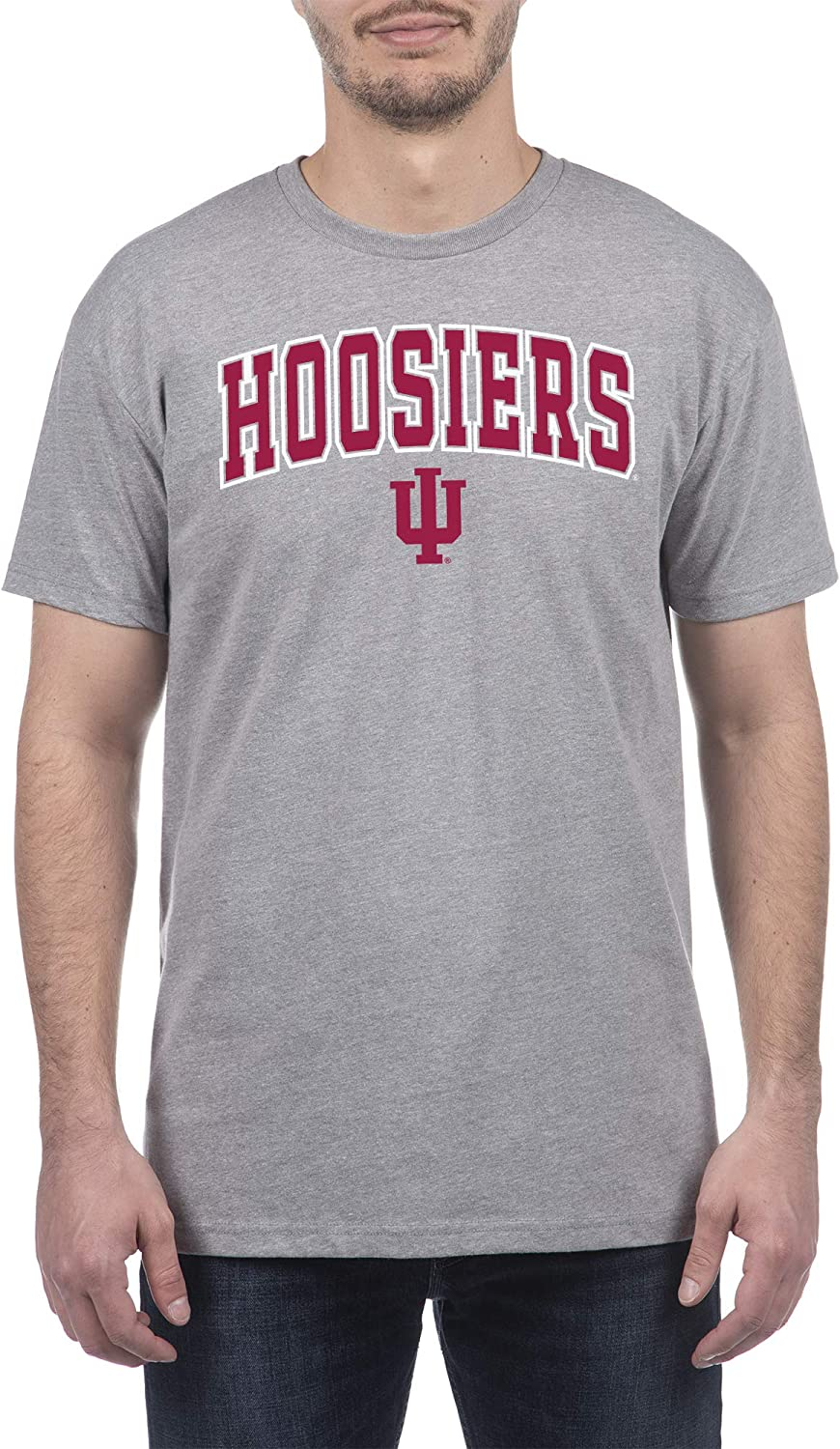 Top of the World NCAA Mens Organic Cotton and Recycled Poly Gray Heather Short Sleeve T