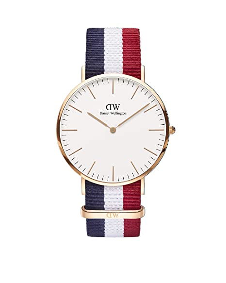 Daniel Wellington Classic Cambridge, Orologio da polso Uomo, ⌀ 40mm,  Eggshell White