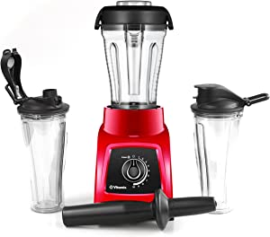 Vitamix S30 Red Personal Blender with 1 Compact and 2 Portable To-Go Containers