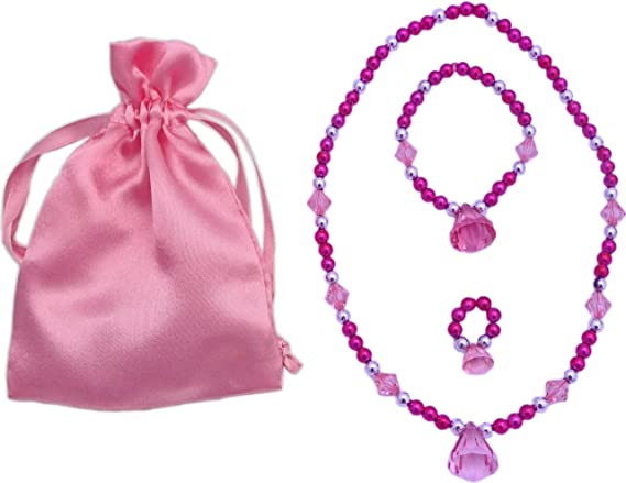 Hot Pink Princess Dress up Jewelry Set (Necklace