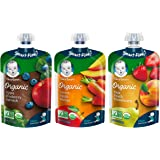 Gerber Organic 2nd Foods Baby Food, Fruit & Veggie Variety Pack 1, 3.5 oz Pouch (Pack of 18)