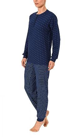 661da74aa1 Normann Copenhagen Damen Pyjama im Tupfendesign Langarm mit Bündchen in Kuschel  Interlock 271 201 96 126: Amazon.de: Bekleidung