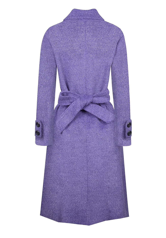 BOJIN Trench Coat Women Long Belted Winter Warm Fashion Elegant Comfortable Wool Blend