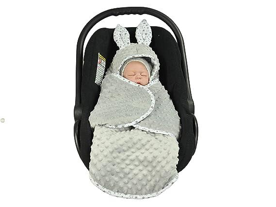 muy alta calidad silla de coche Grey Stars manta Minky gris Grey cochecito y cuna Manta para beb/é EliMeli universal para capazo