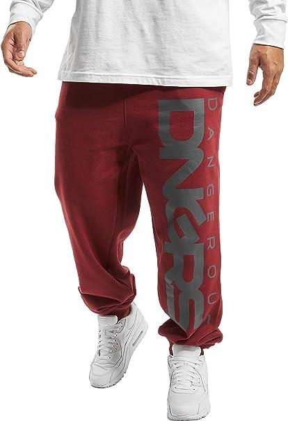 Dangerous DNGRS Männer Baggy Jogginghose Classic in rot