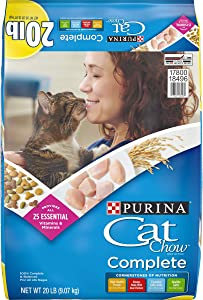 Purina Cat Chow Dry Cat Food, Complete - 20 lb. Bag