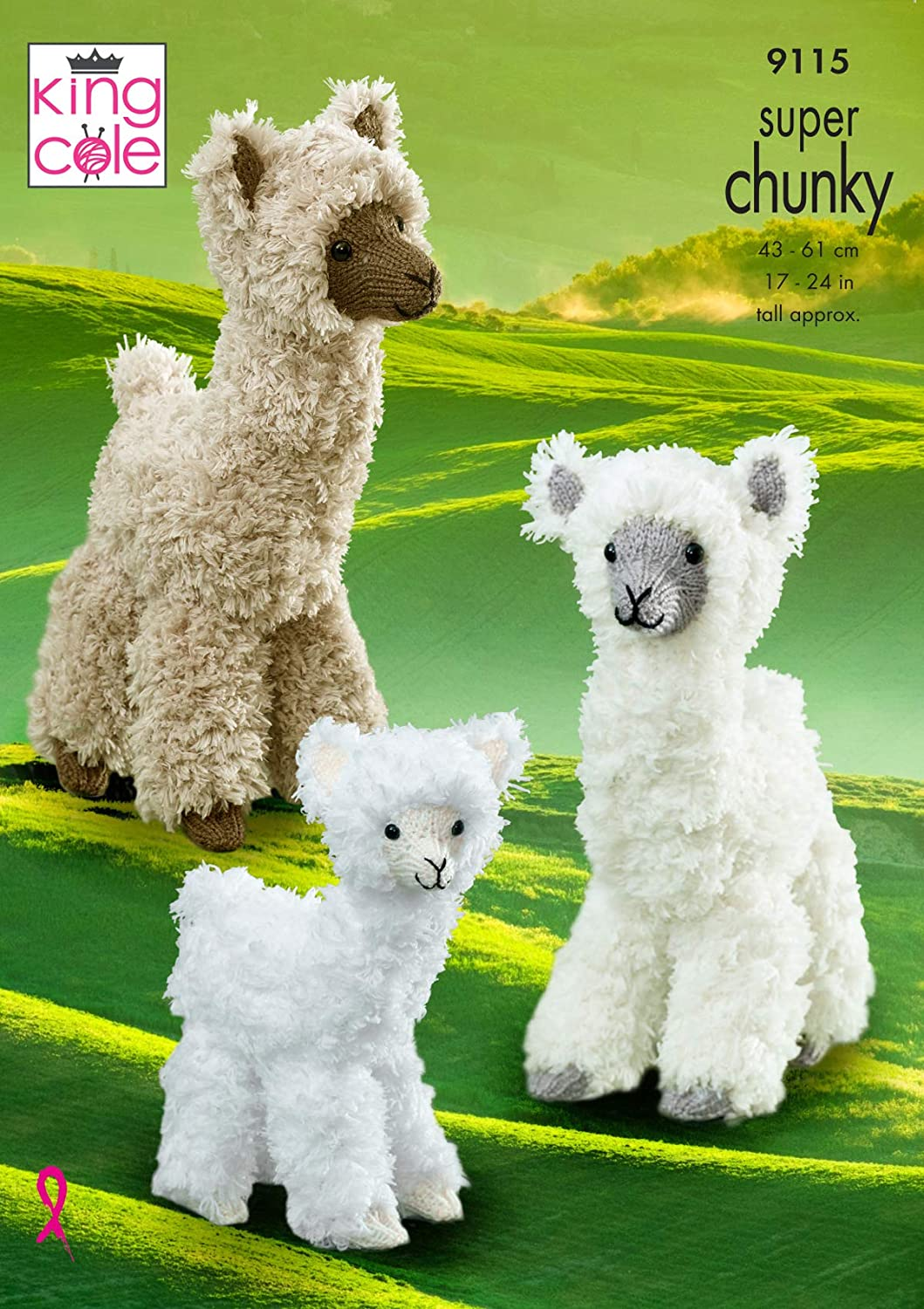 """DK  Knitting Pattern Soft Toy Animal Cow And Bull   9/"""" In Height 16/"""" Length"""