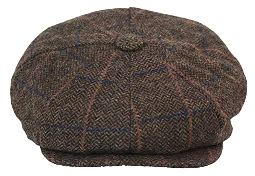 ce173712c Amazon.com: Mens Tweed Newsboy Cap Peaky Blinders Baker Boy Flat ...