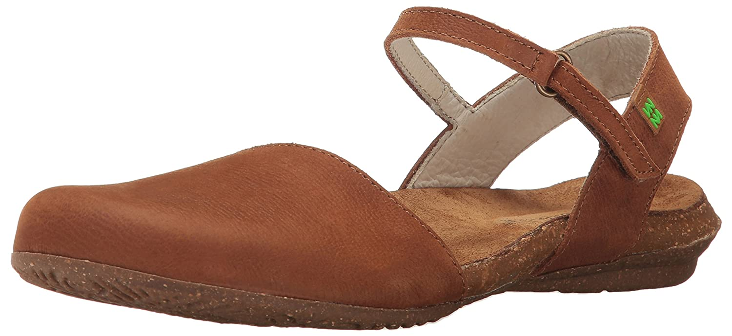 El Naturalista Damen N412 Pleasant Wakataua Closed-Toe Sandalen, Orange  37 EU|Braun (Wood)