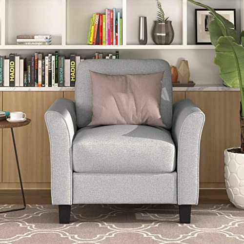 Merax Contemporary Armchair Fabric Accent Chair Club Chair Sofa