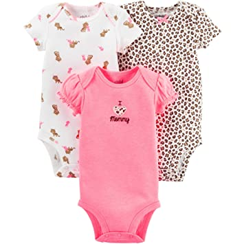a1a3f845d Amazon.com  Child of Mine by Carters Baby Girl Bodysuits 3 pack (0-3 ...